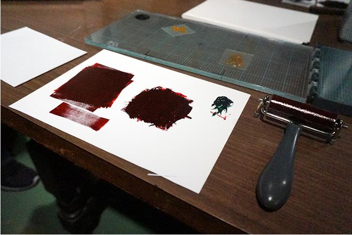 茶色のインク