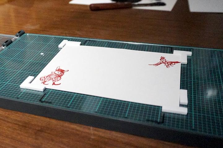1枚目の活版印刷(練習用)