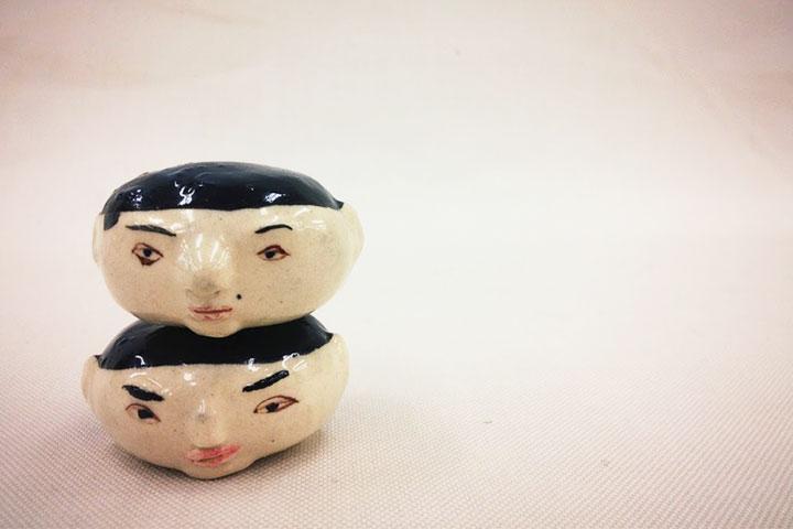 こんな謎な作品でも咎められない。楽しい陶芸。
