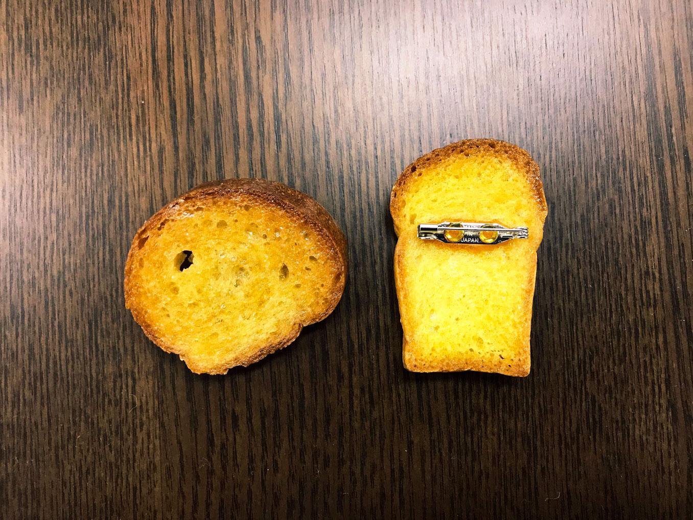 ヘビーローテーションのシュクルさんのパンバッチ。