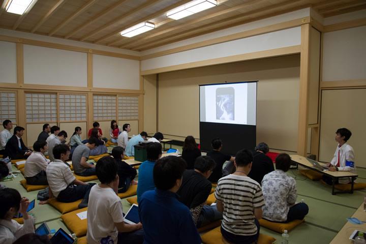 名古屋城 本丸御殿 孔雀之間でのセッション風景