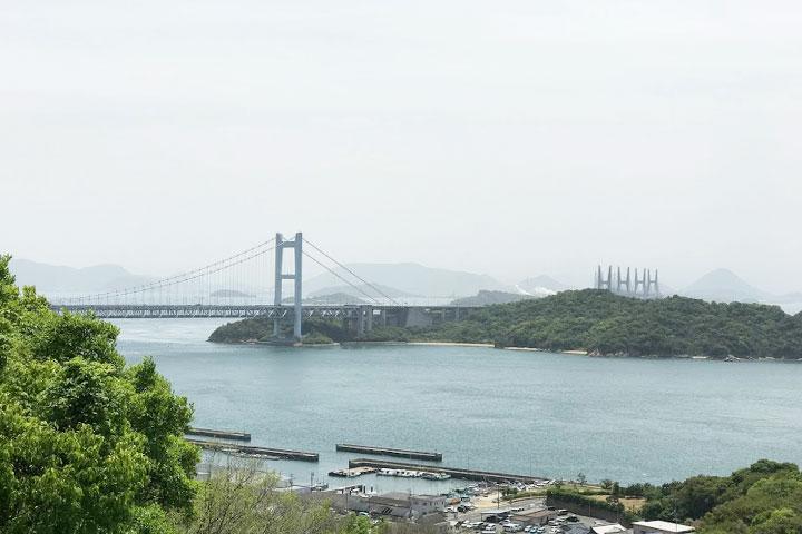 瀬戸大橋記念公園から見た瀬戸大橋