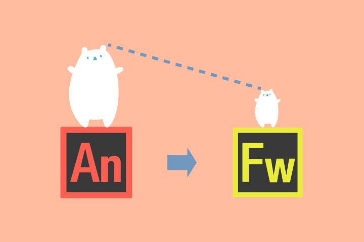 データの軽いGIFアニをAnimate CCとFireworksで作成する方法。