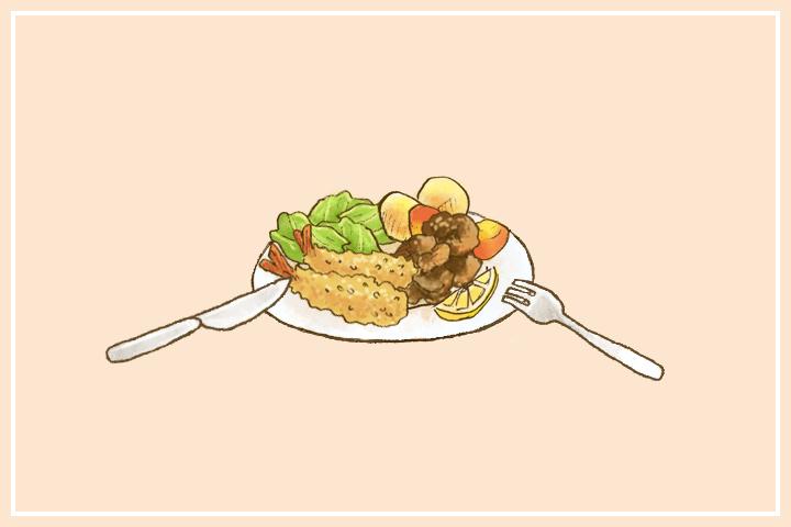 食べ物のイラストの描き方のコツ。