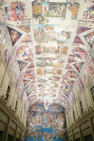 ミケランジェロのシスティーナ礼拝堂