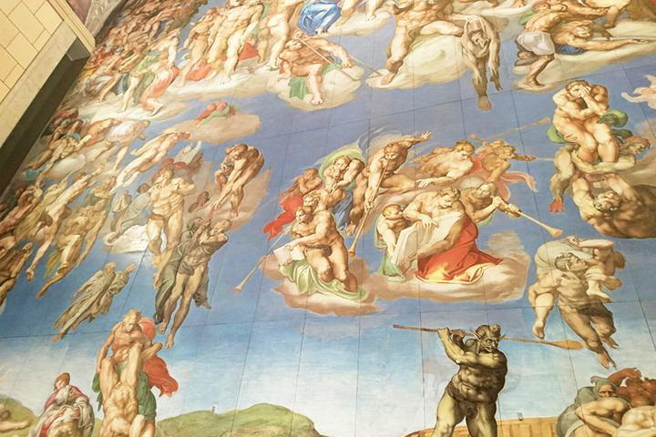 システィーナ礼拝堂の細部の様子