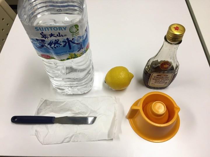 レモネードダイエット材料