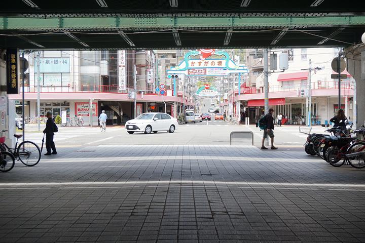 阪急春日野道駅近く高架下