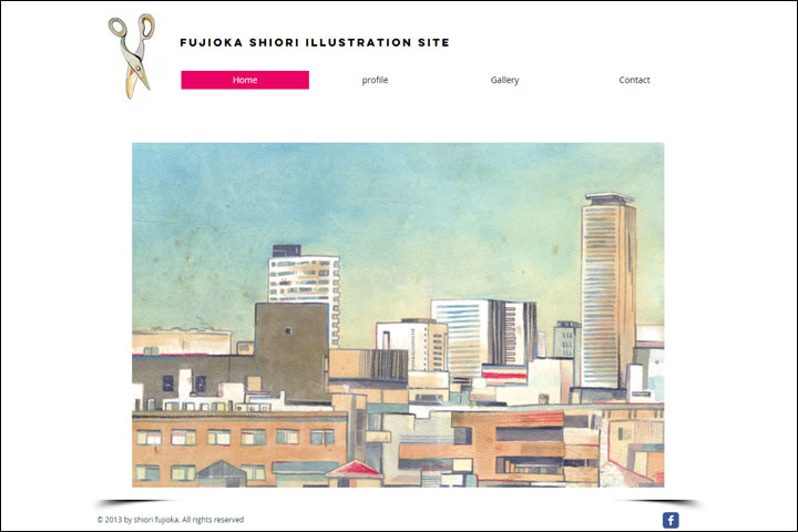 fujioka shiori illustration site