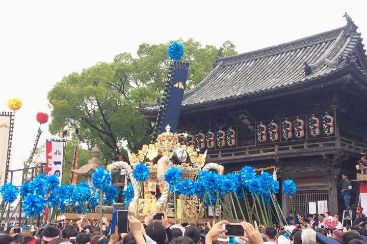 松原八幡神社と中村屋台