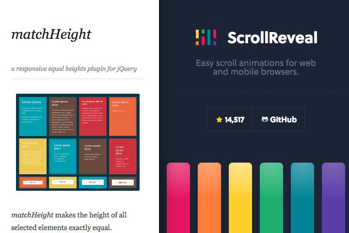 matchHeight.js・ScrollReveal.jsをより便利に使えるスニペット。