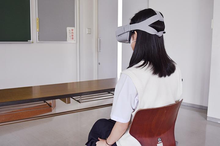 Oculus Goでゲームをプレイする様子