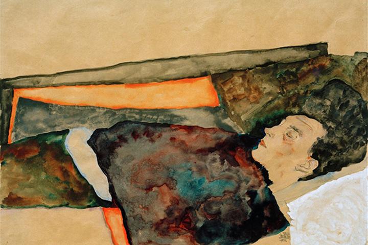 芸術家の母、眠る