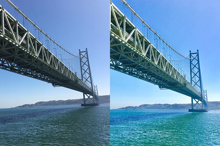 写真編集 明石海峡大橋