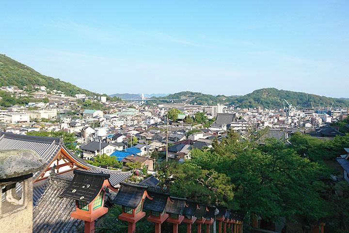 西國寺から見える景色